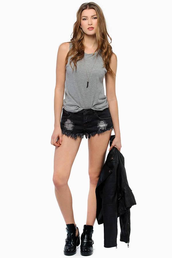 Wilshire Denim Shorts In Manhattan