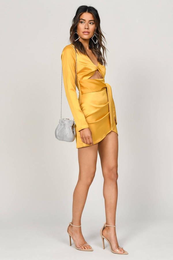 1655f56eae3 So Unreal Marigold Satin Bodycon Dress So Unreal Marigold Satin Bodycon  Dress ...