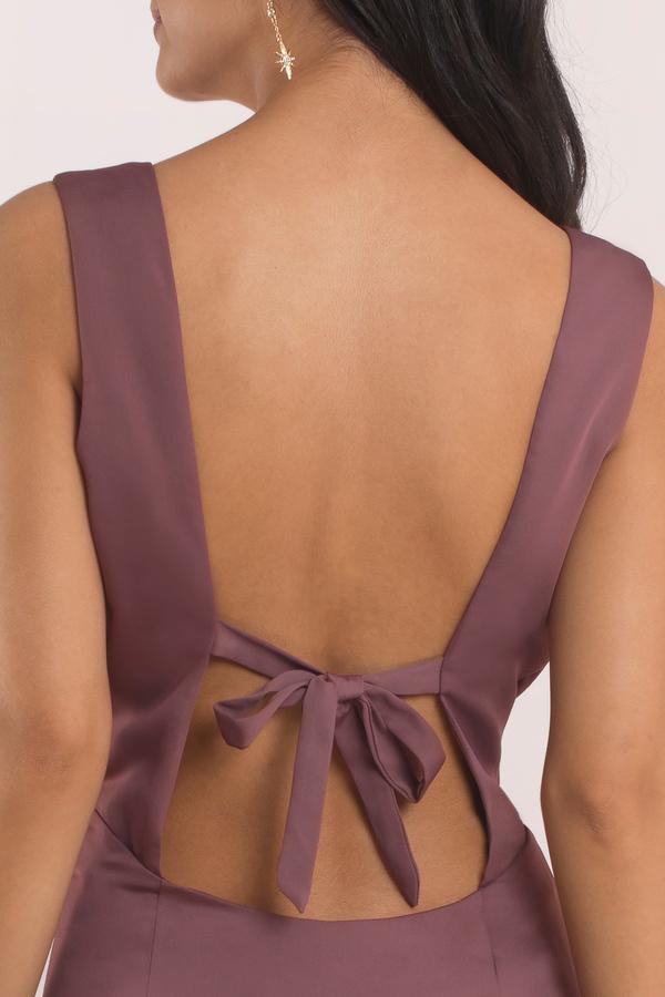 Tobi Wedding Guest Marsala Ivy Low Back Maxi Dress