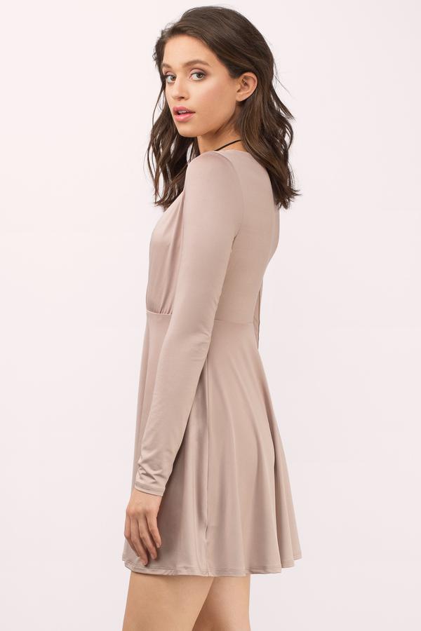 Lace dress quarter sleeve rust