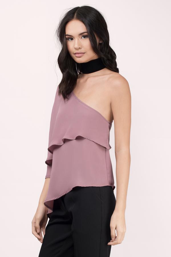 Trendy Mauve Blouse - Off Shoulder Blouse - Mauve Blouse - € 8  ce25cfb48