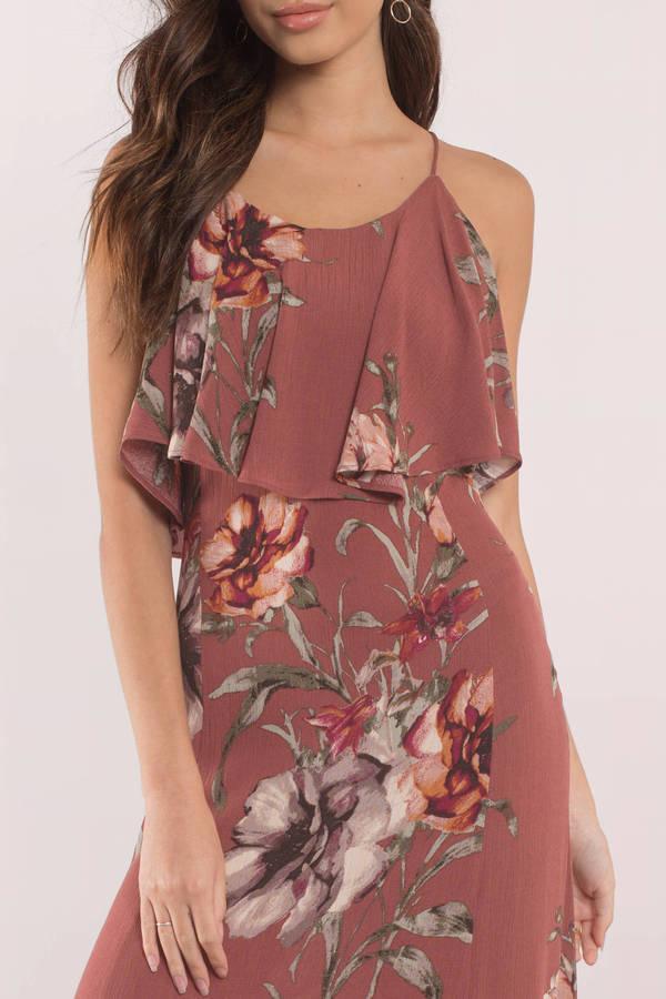 973022aa16c2 Purple Maxi Dress - Tropical Print Maxi Dress - Purple Floral Dress ...