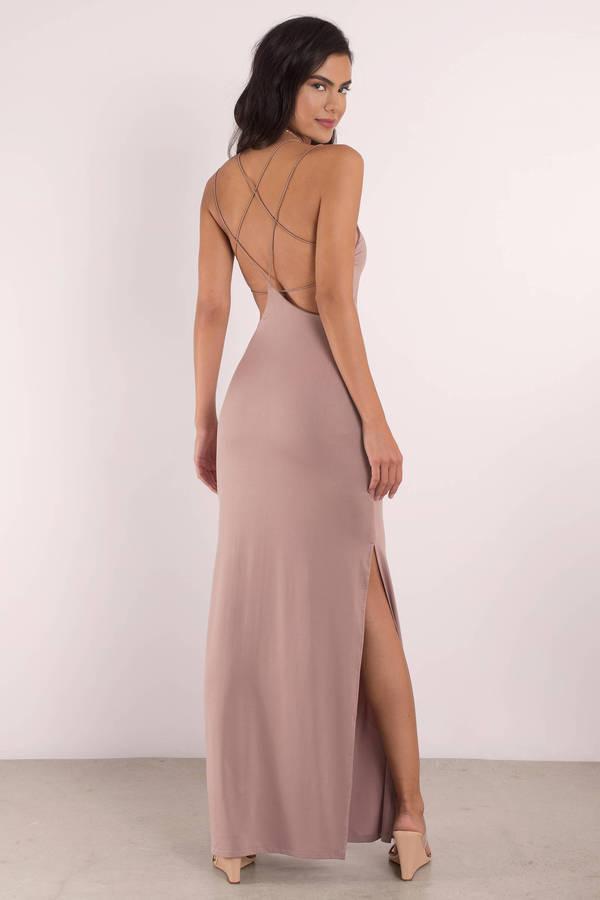 f32ebffbbb4 Sexy Wine Maxi Dress - Open Back Dress - Prom Dress - Maxi Dress ...