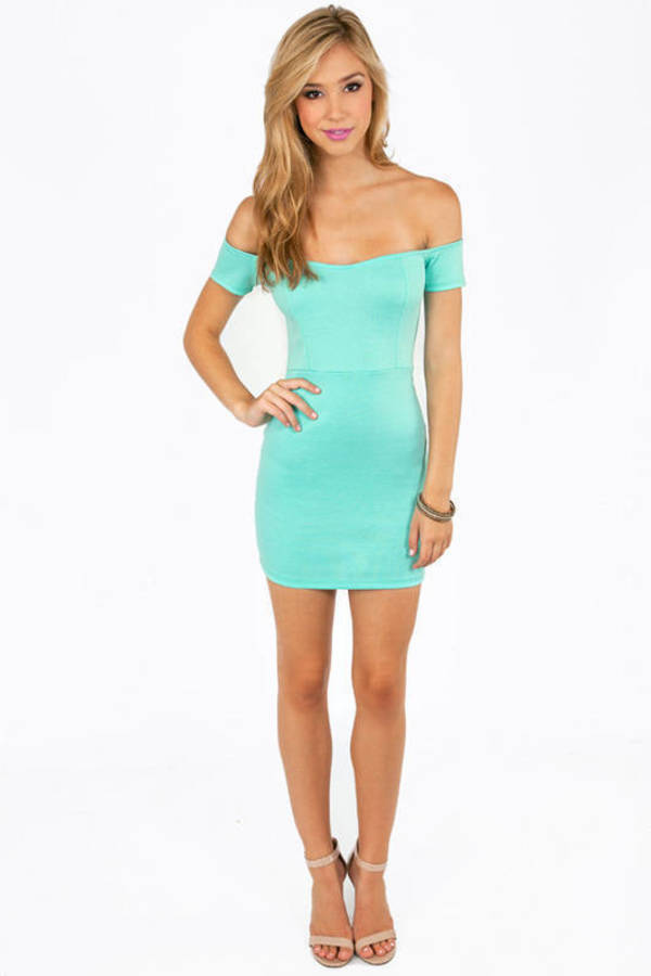 Off My Shoulders Mini Dress