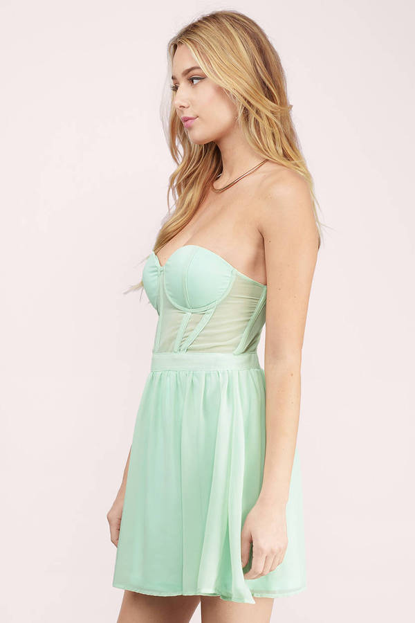 126542b8ce Mint Skater Dress - Mint Dress - Sweetheart Dress - Mint Skater ...