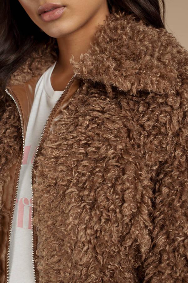 Teddy Coat Brown Shaggy Faux Fur Coat