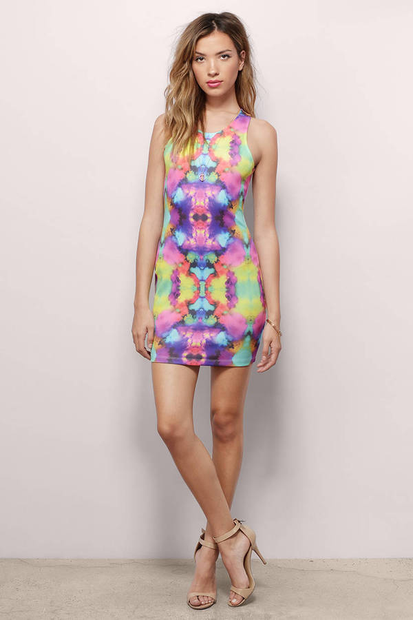 Psychedelic Bodycon Dress