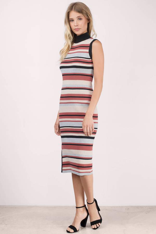 85d0a622dffb ... MINKPINK Minkpink Straight N Narrow Multi Knit Striped Bodycon Dress ...