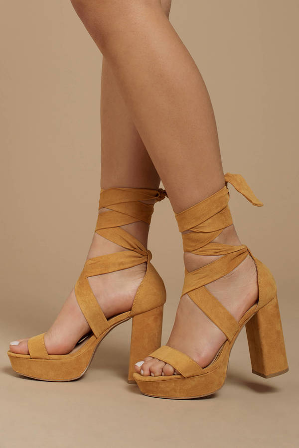 8f96ccf0e32a Alice Mustard Suede Ankle Tie Heels Alice Mustard Suede Ankle Tie Heels ...