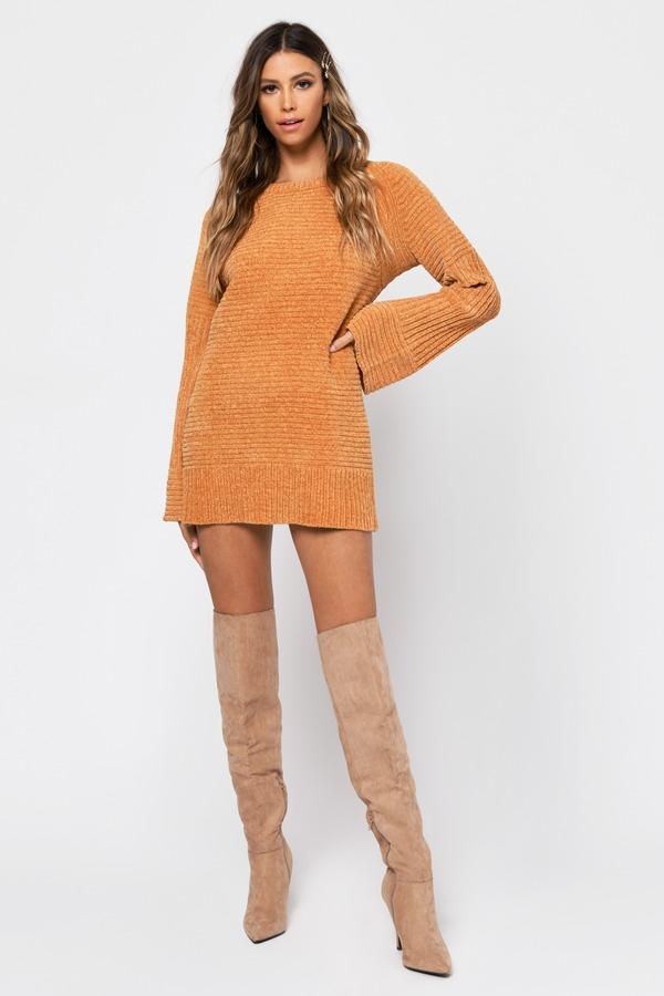 e1343ea7629 Clara Mustard Chenille Sweater Dress Clara Mustard Chenille Sweater Dress  ...