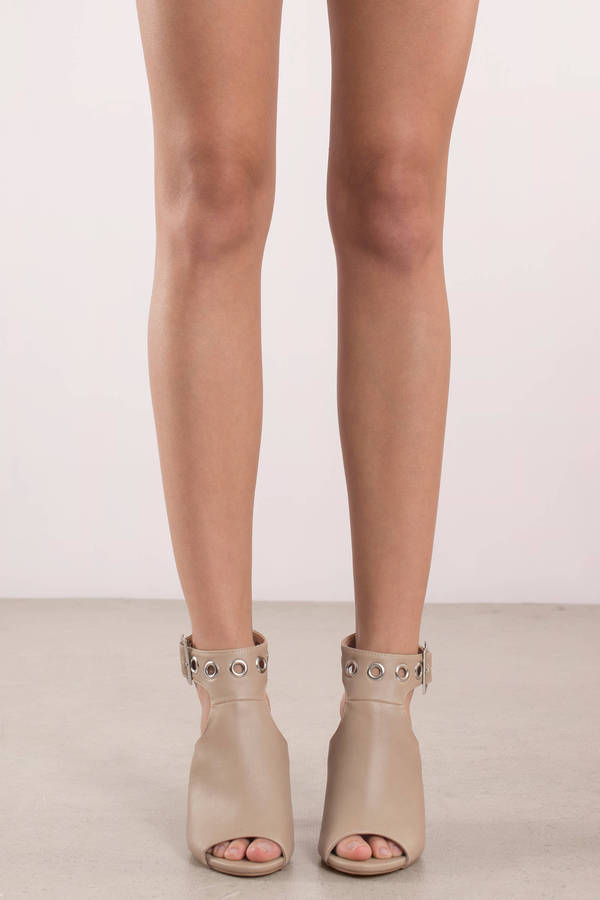 b1731545b92d Hallie Natural Grommet Peep Toe Heels Hallie Natural Grommet Peep Toe Heels  ...