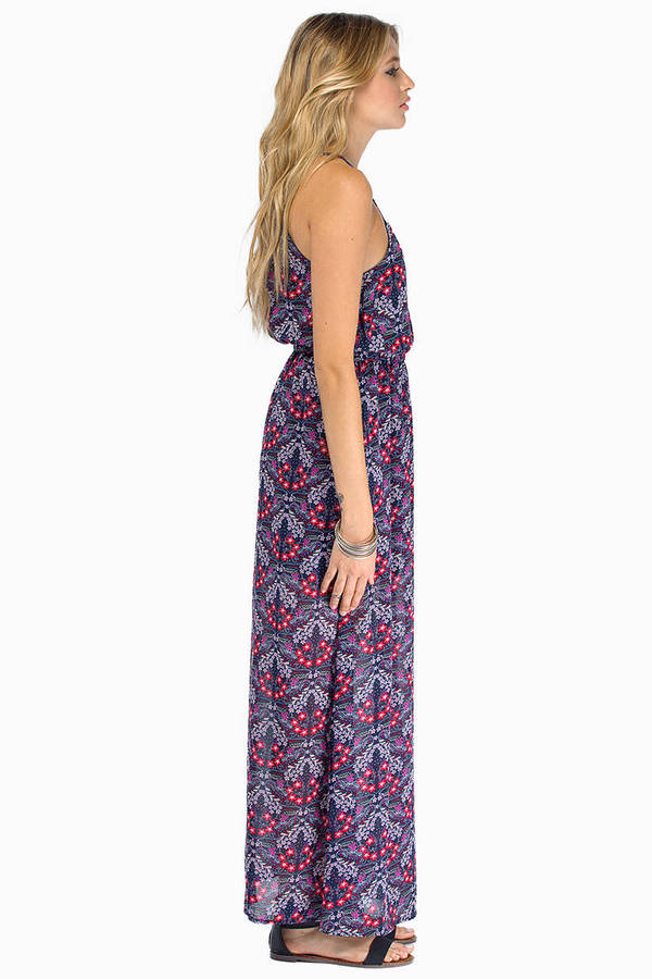 Around The Roses Maxi Dress