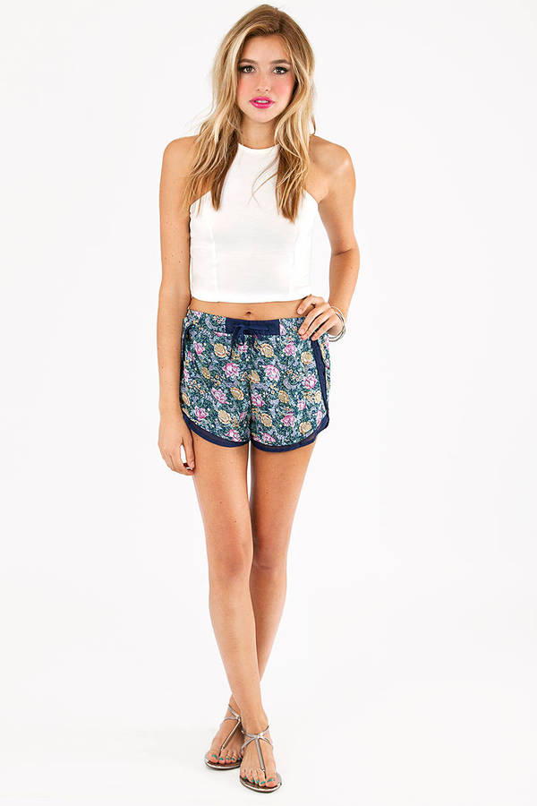 Floral Serenity Shorts