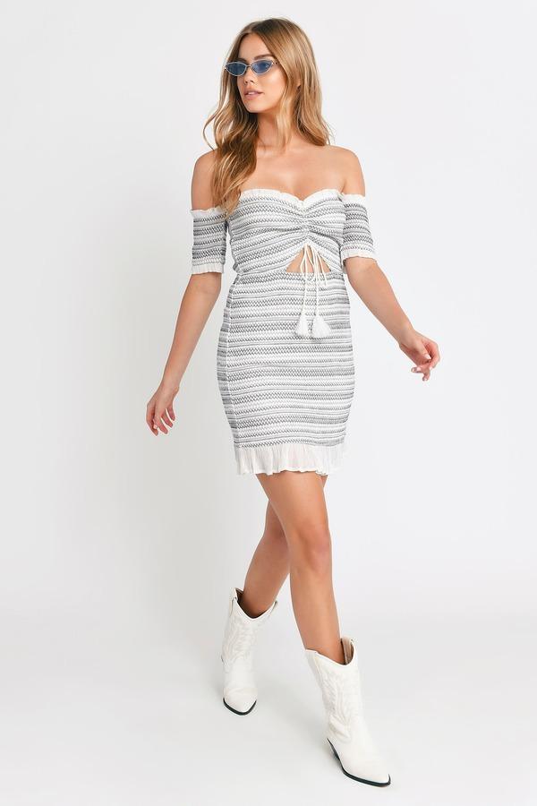 f0c7faf9d1 ... Tobi Beach Dresses, Navy & Grey, Nia Off Shoulder Bodycon Dress, ...