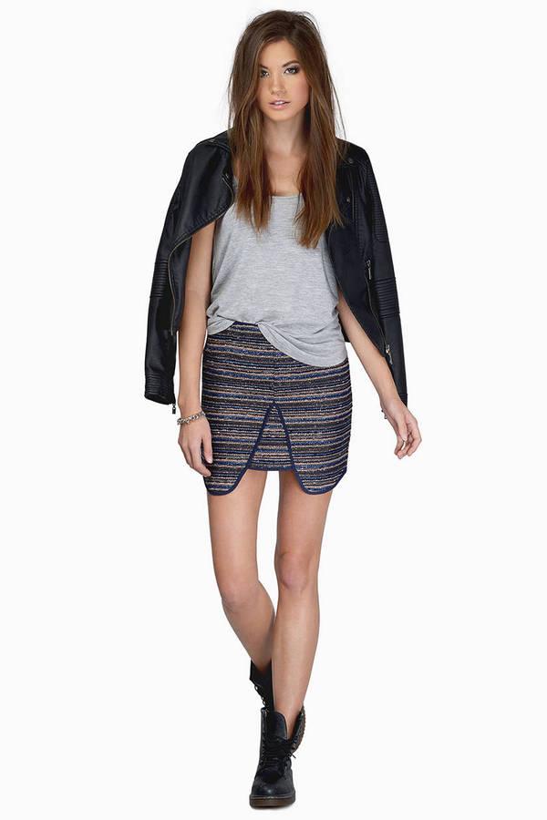 Navy Blue Skirt | Shop Navy Blue Skirt at Tobi