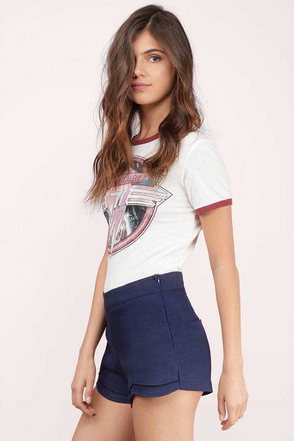 Once Again Scalloped Shorts