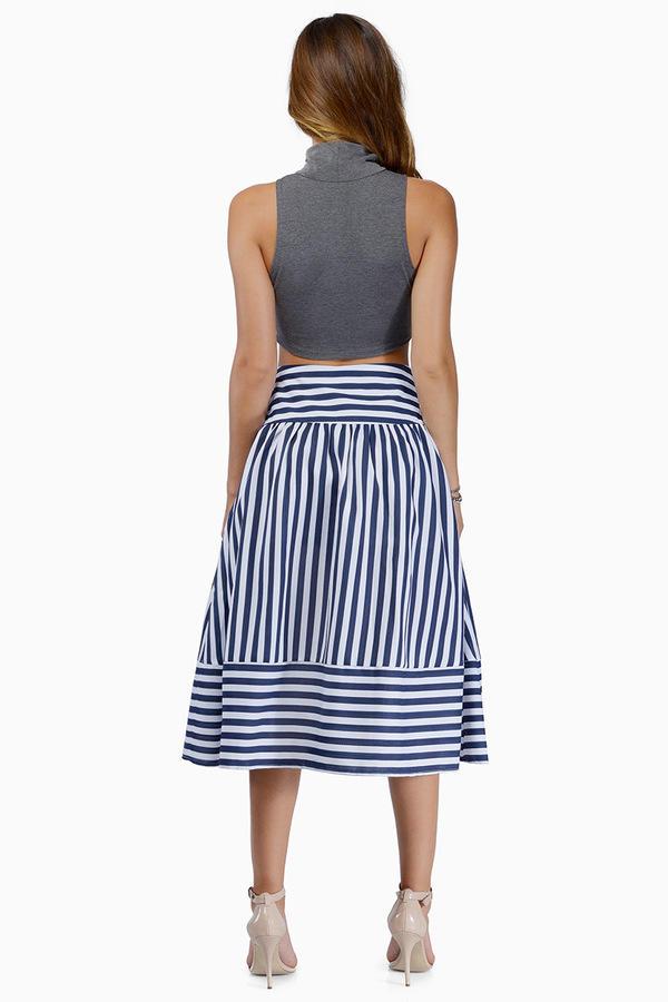 Joa Panel Striped Skirt