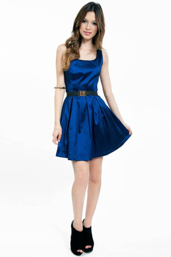 Scoop of Shimmer Skater Dress