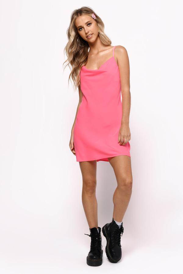 a501192105 ... Tobi Club Dresses, Neon Pink, Pink Nation Cowl Neck Shift Dress, Tobi