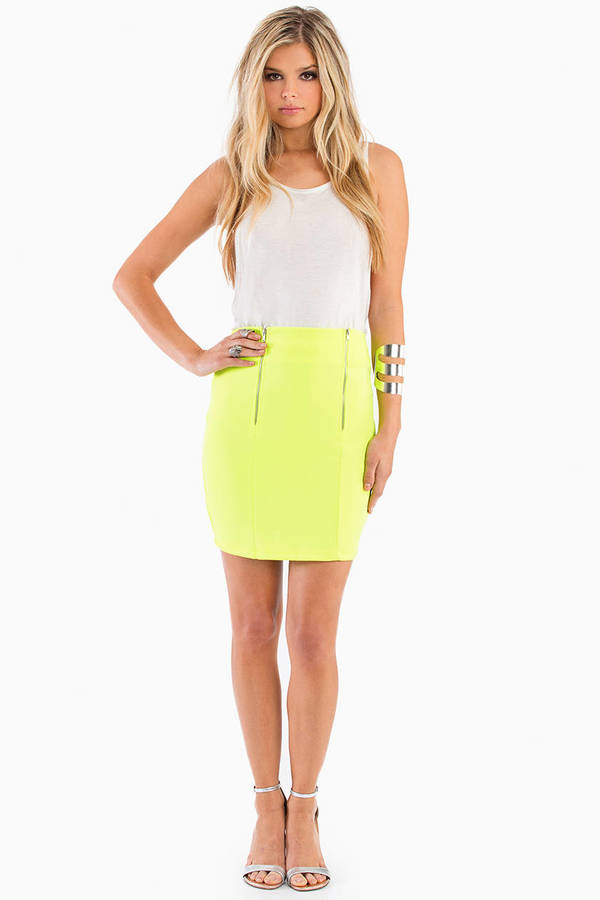 Double Zipper Pencil Skirt