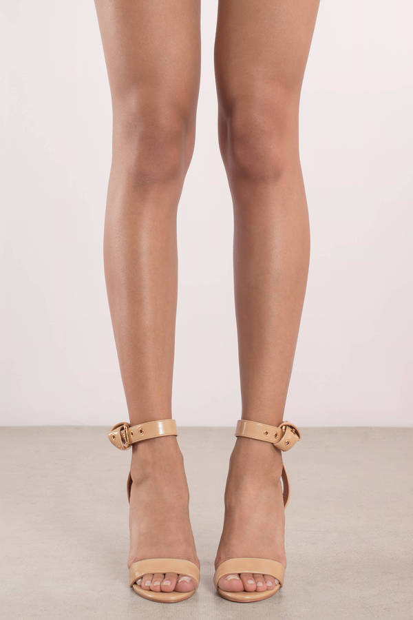 1100831d7f89 Krystal Nude Lucite Ankle Strap Heels Krystal Nude Lucite Ankle Strap Heels  ...