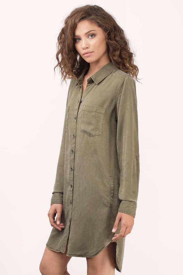 422a03be77e ... Dress Thread   Supply Thread   Supply Better Days Olive Chambray Shirt  ...