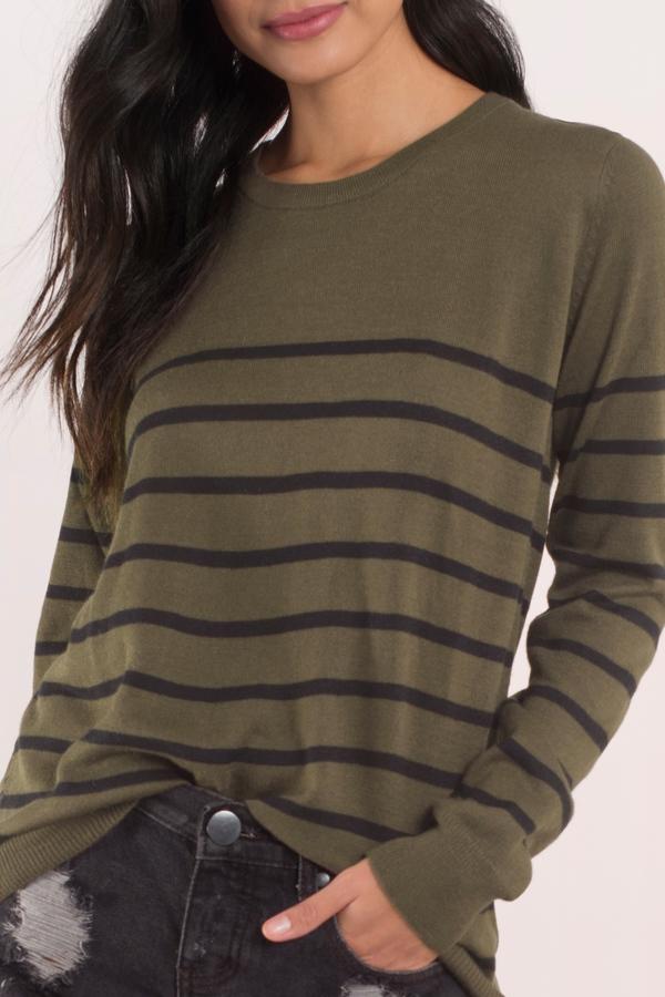 Olive Black Sweater Green Sweater Long Sleeve Sweater 11