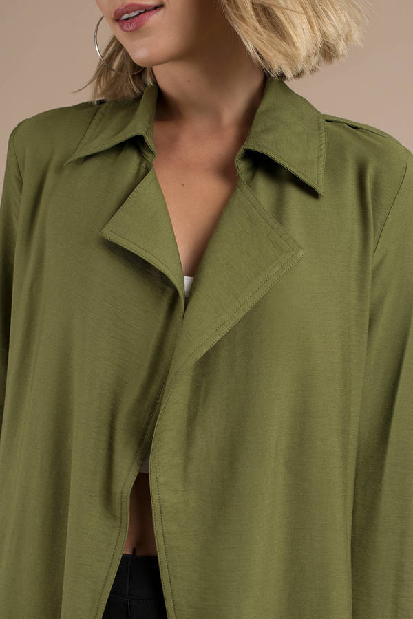 a1972e405596 ... The Fifth Label The Fifth Label Crew Olive Trench Coat ...