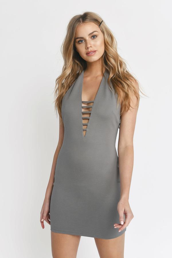 d55ddb343fe5 ... Tobi Club Dresses, Olive, Halter At Me Bodycon Dress, Tobi