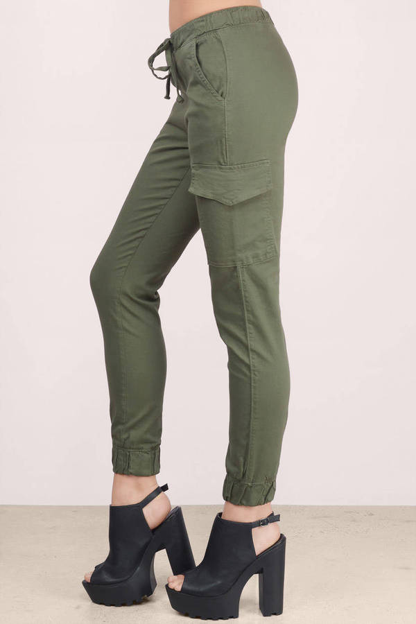 Free Shipping Sites >> Olive Pants - Green Pants - Jogger Pants - Army Green ...