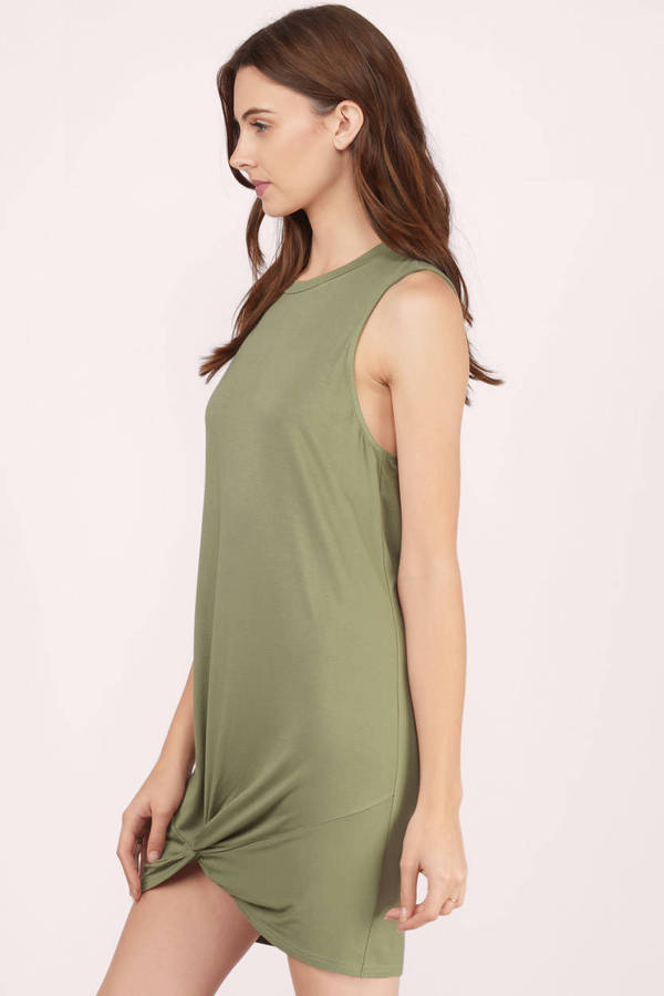 Olive Shift Dress Olive Dress Sleeveless Dress Olive Shift 26 Tobi Us