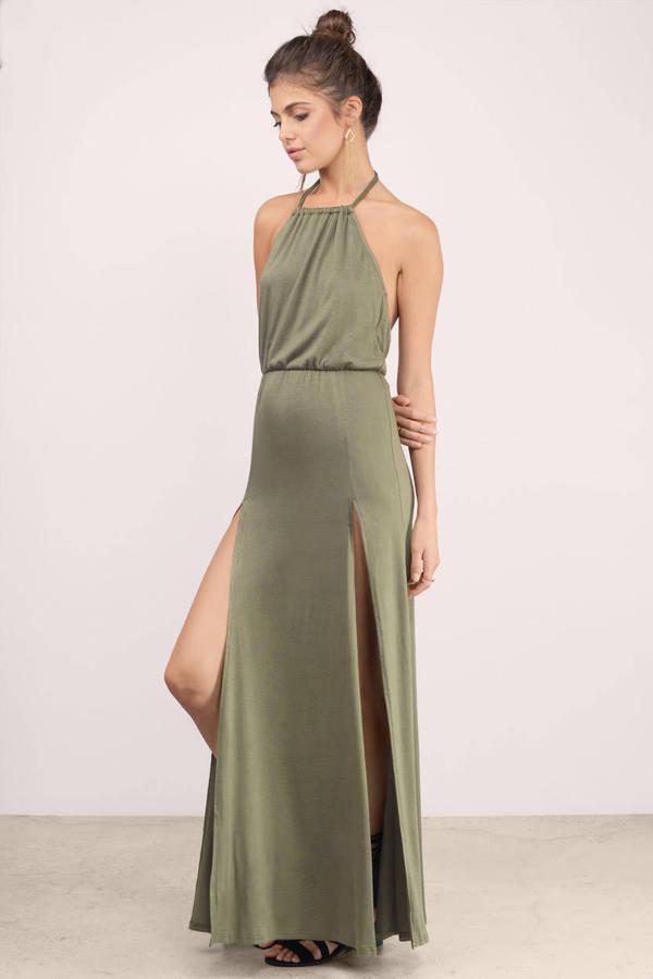 Cream grecian maxi dress