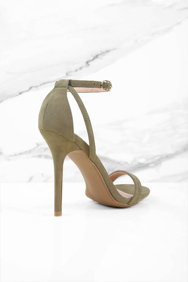 38378e16e67 Olive Heels - Green Heels - Open Toe Heels - Forest Green Heels - NZ ...