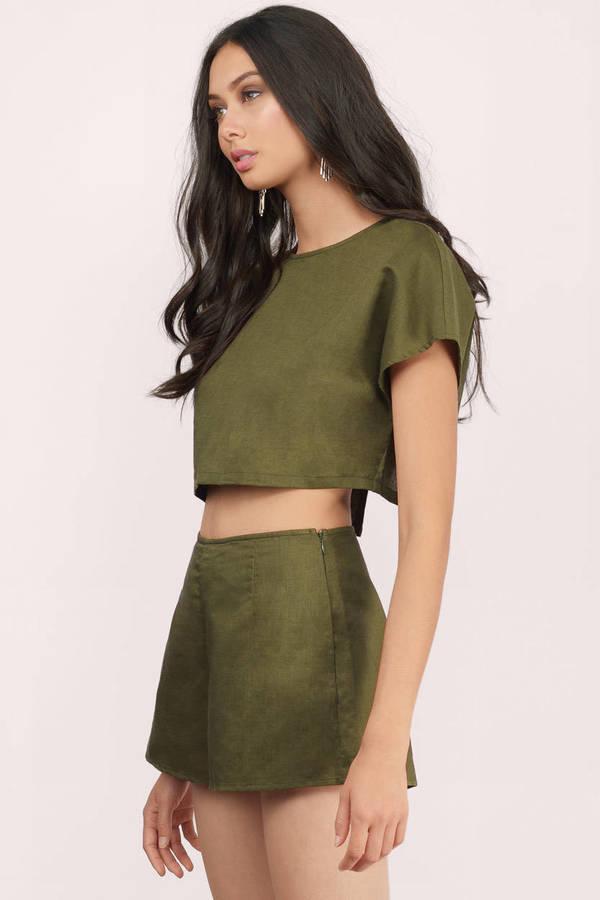 Olive Green Pants | Shop Olive Green Pants at Tobi