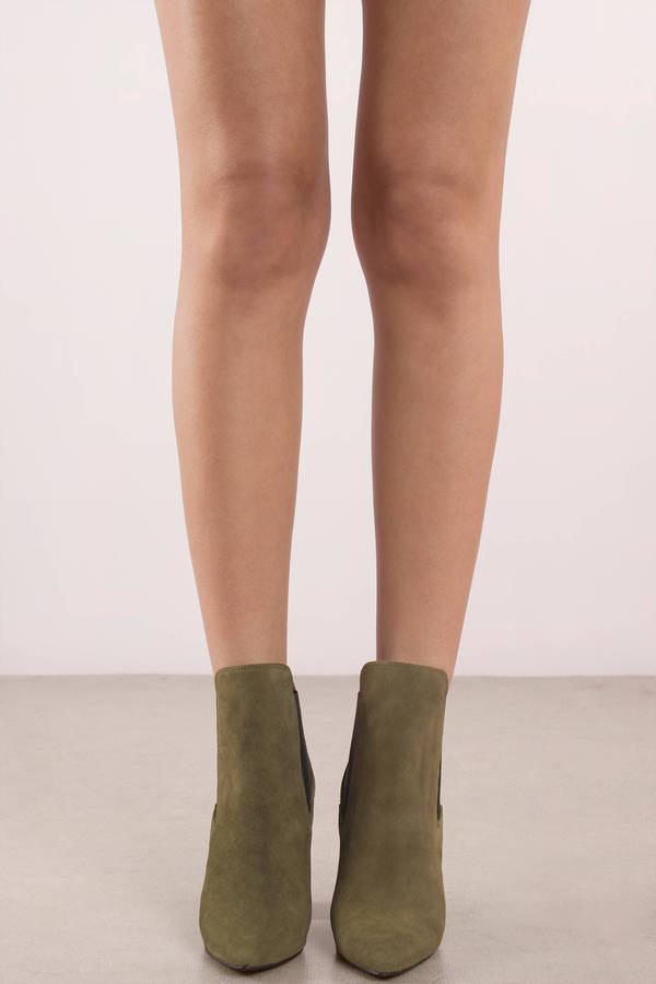4c48f28e68 ... Chinese Laundry Chinese Laundry Starlight Olive Suede Ankle Booties ...