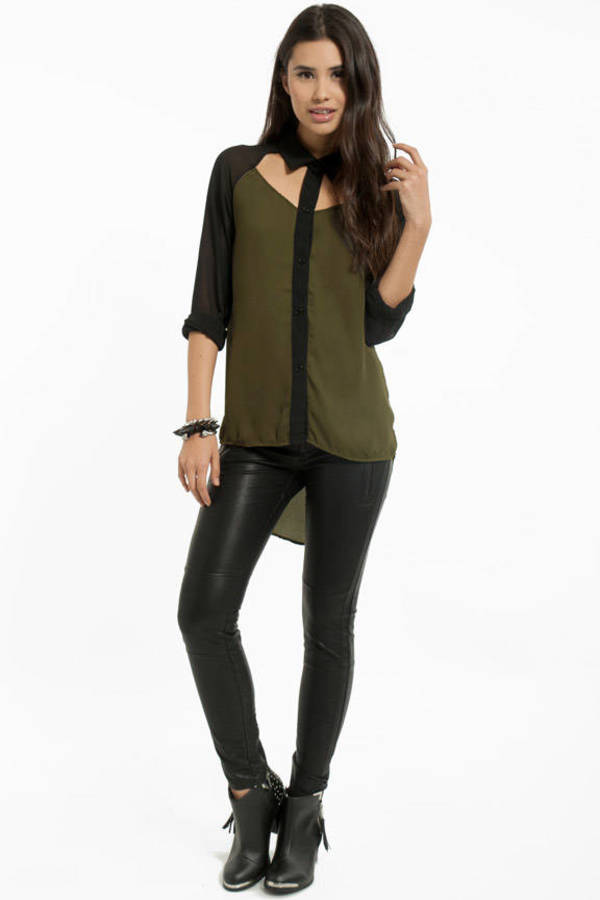 Way To My Heart Cutout Blouse