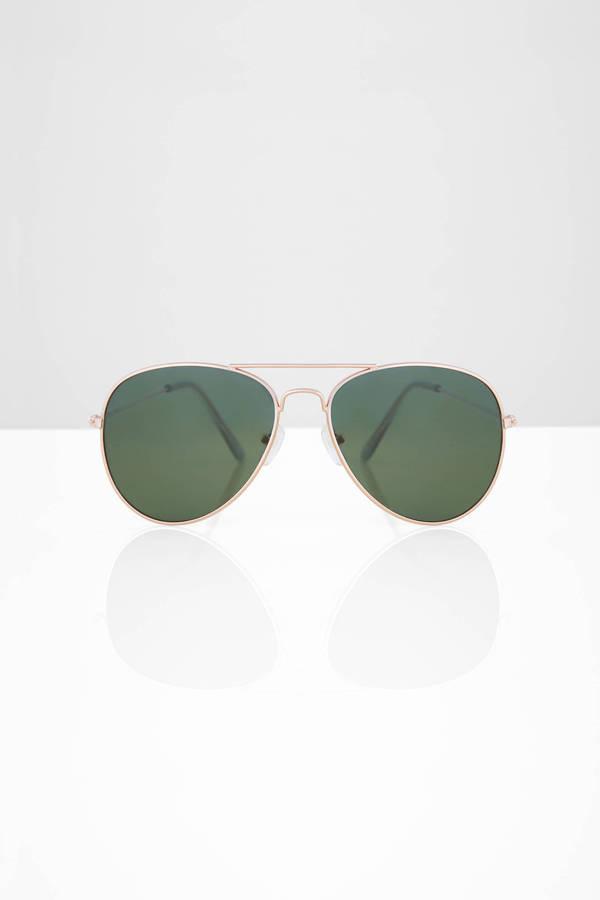 Olive Woods Aviator Sunglasses Tobi
