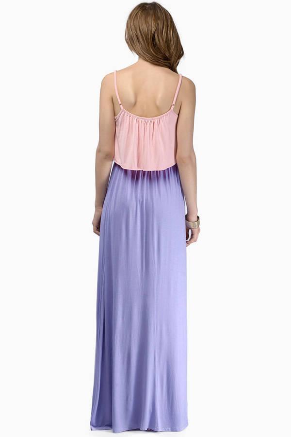 Double Tone Maxi Dress