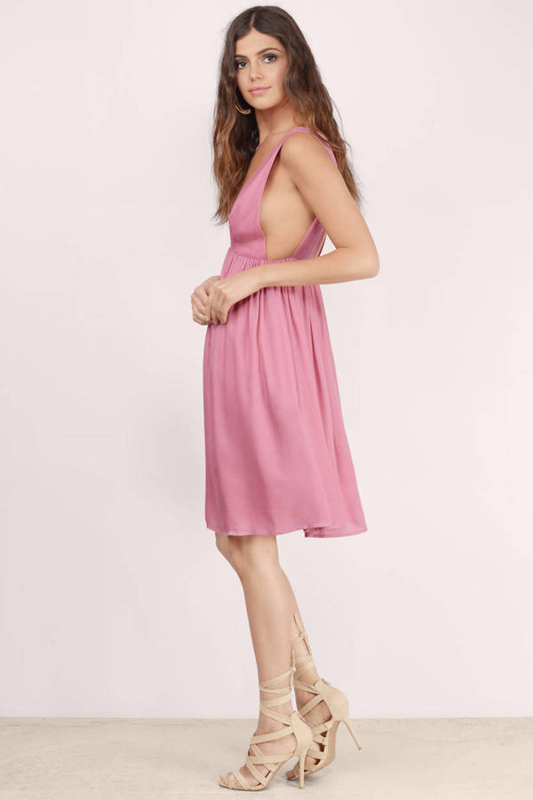 Shop pink polyester midi dress at Neiman Marcus, where you will find free shipping on the latest in fashion from top designers.