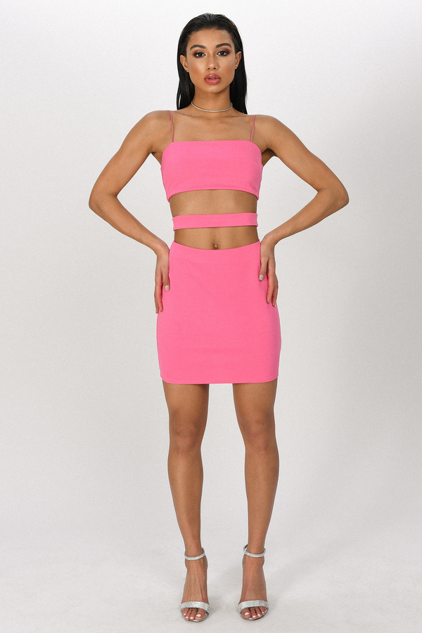 dcf36cd656a9 Pink Bodycon Dress - Cut Out Dress - Hot Pink Party Dress - $29 ...