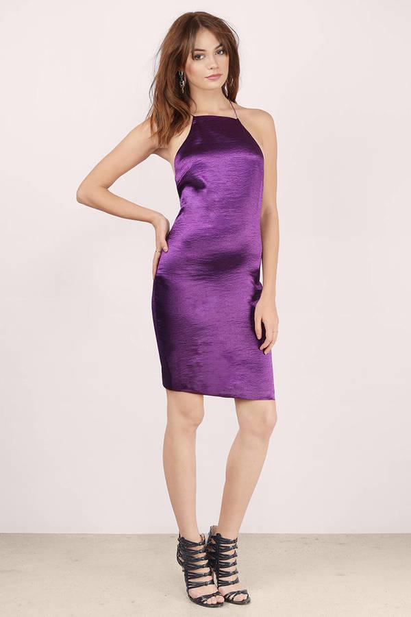 plum light up the night bodycon dress