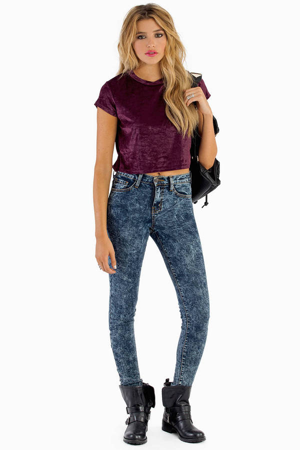 Smooth Like Velvet Crop Top