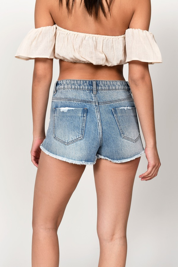 Blue Shorts Everyday Denim Shorts Blue Comfortable