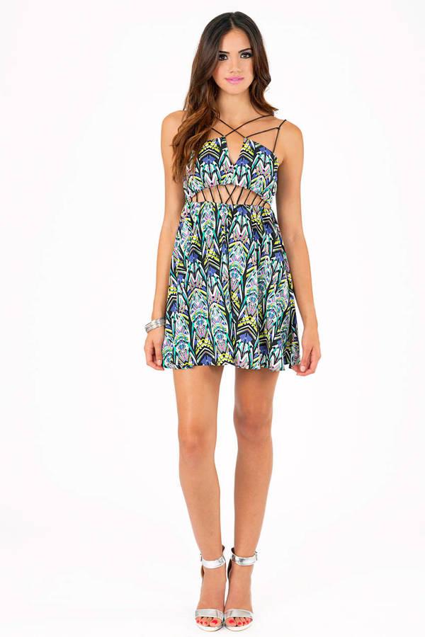 Crisscross Crystallized Dress