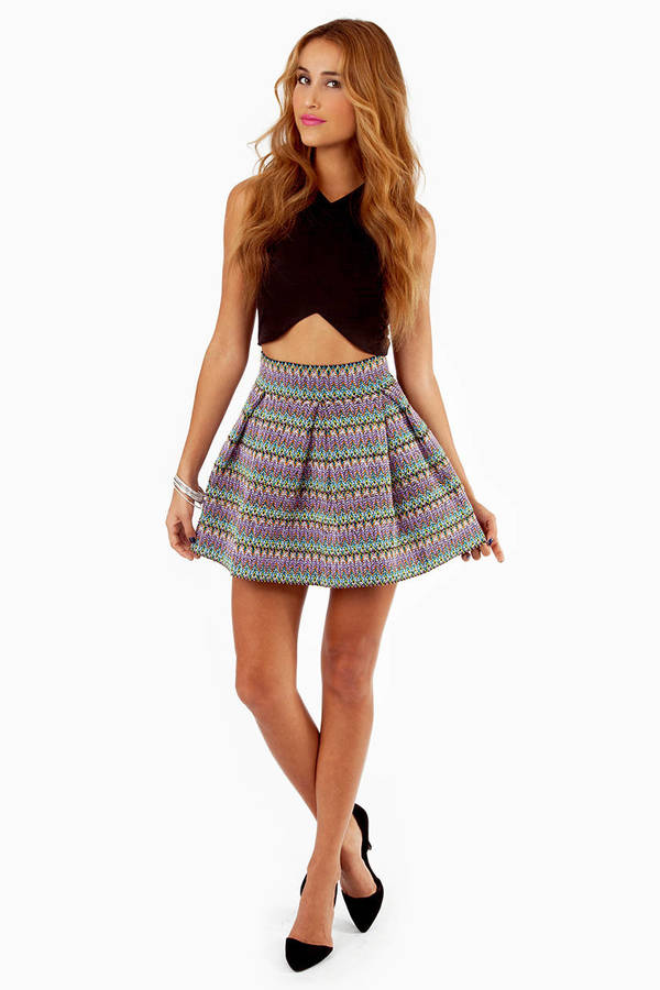 English Rose Lots Of Lines Skirt