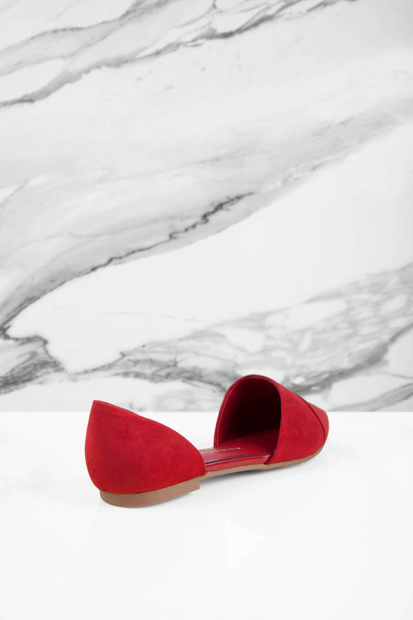 fb7c52b8c ... Chinese Laundry Chinese Laundry Easy Does It Red Suede D orsay Flats ...
