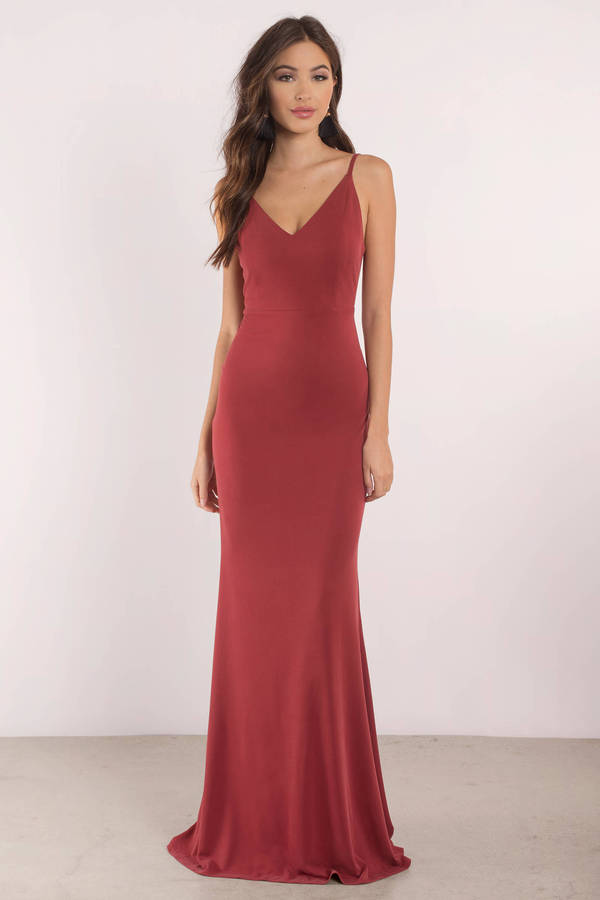 a3531ec2 Sexy Red Dress - Open Back Dress - Plunging Neckline - $29 | Tobi US