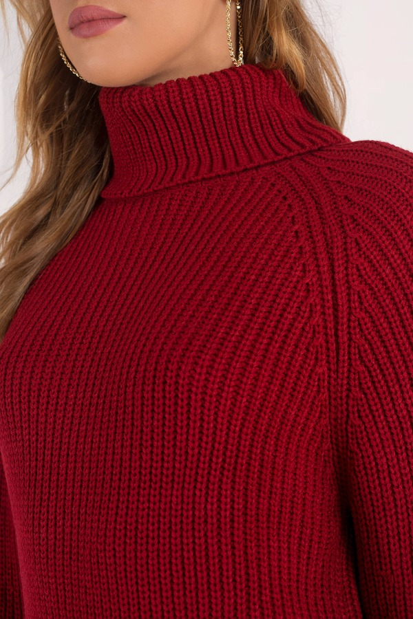 46a2f7df4d57 Red Holiday Dress - Turtleneck Dress - Red Sweater Dress -  34