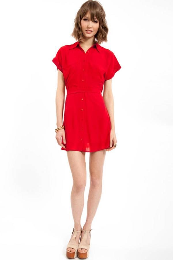 Lulu Double Pocket Shirt Dress