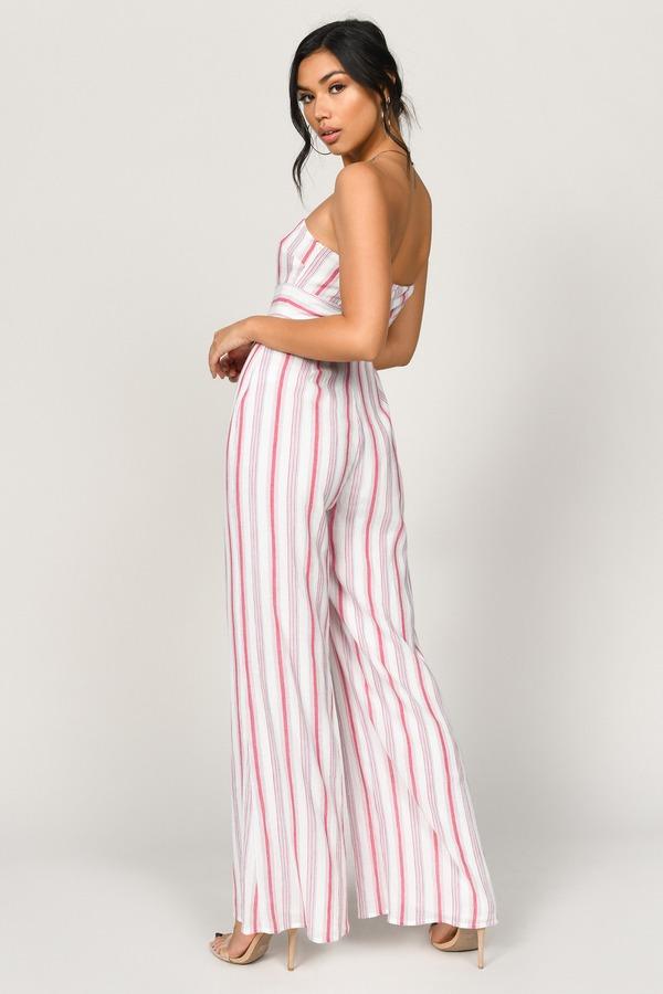 a47c666d0 ... Tobi Jumpsuits, Red Multi, Carrie Stripe Strapless Jumpsuit, Tobi